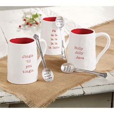 Holiday Circa Mug & Spoon Sets | Mud Pie