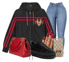 """""""Untitled #160"""" by xgoldenrose ❤ liked on Polyvore featuring Gucci and Puma"""