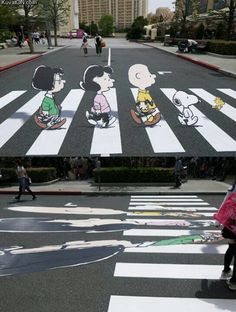 Artistic minds are so cool.who would think that Street art would be something other than graffiti from the kids.I love art and street art is pretty cool. 3d Street Art, Amazing Street Art, Street Art Graffiti, Banksy Graffiti, 3d Art, 3d Chalk Art, Funny Optical Illusions, Urbane Kunst, Art Du Monde