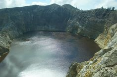 Brown Lake at Kelimutu on Flores, Indonesia