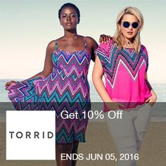 Get 10% Off with Code at Torrid.com! Offer valid: 5/4/16 - 6/5/16. Brought to you by http://www.imin.com and http://www.imin.com/store-coupons/torrid/