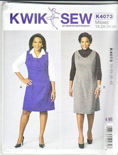8f1e605ab8e Kwik Sew Sewing Pattern 4073 K4073 Women s Plus Size 1X-4X (22W-32W)  Jumpers Neckline Options