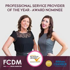 FCDM is nominated for Athlone Chamber of Commerce Award Dublin, Marketing Website, Web Design, Chamber Of Commerce, Professional Services, Digital Marketing, Ireland, Awards, Twitter