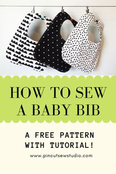 Easy Baby Sewing Patterns, Baby Clothes Patterns, Baby Sewing Projects, Sewing Projects For Beginners, Sewing For Kids, Sewing Hacks, Sewing Tutorials, Diy Baby Bibs Pattern, Sewing Tips