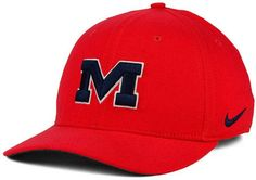 Use this Nike NCAA Classic Swoosh cap to show your support for the Mississippi Rebels, be it for their academia or the sports teams they field. Great for daily wear, this cap is comfortable and stylish all year long. Mid crown Structured fit Normal bill Embroidered team logo at front Stitched Nike swoosh logo at left side Embroidered team logo at back Stretch fitted Rayon/nylon/cotton/polyester Spot clean only