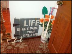 spare room to garden room, gardening, home decor, painting, wall decor