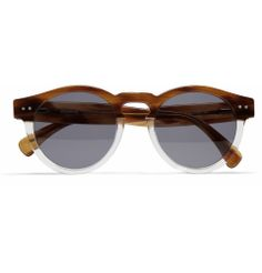 ILLESTEVA    LEONARD TWO-TONE ACETATE ROUND-FRAME SUNGLASSES -  Future gift for my wife :-)