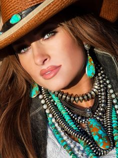 turquoise jewelry by Brit West Free Spirit レ o √ 乇   ღ - ❥Hippie Style❥☮☮ -/ Maybe not all of it together, but very interesting.