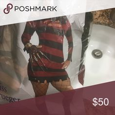 Miss kreuger halloween costume plus size Comes with hat, dress and glove never worn - GET NOW FOR NEXT YEAR!! Other