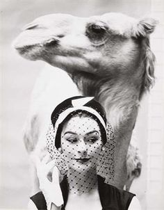 Chanel model and camel.