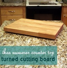 Step by step tutorial for making a no-slide wooden cutting board from butcher block counter top scraps. Great idea from Schaefer Schaefer (Boxy Colonial) Holcombe Cheap Countertops, Formica Countertops, Butcher Block Countertops, Concrete Countertops, Butcher Blocks, Wooden Counter, Cement Counter, Stainless Steel Counters, Diy Cutting Board