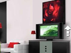 How to Build a Custom TV Lift  Flat screen tvs Flat screen and Facades