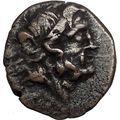 HALICARNASSUS CARIA 2-1CnBC Poseidon Trident Authentic Ancient Greek Coin i56247