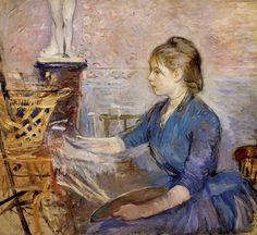 Birthe Morisot | berthe morisot by paule gobillard oil on canvas 1886 berthe morisot ...