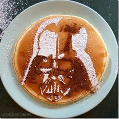 Download your own Darth Vader pancake stencil Star Wars
