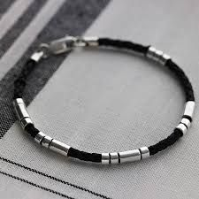 leahter and metal bracelet