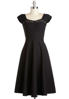 Masterful Monologue Dress. You nailed your first audition and scored a callback for an up-and-coming theater companys latest production. #black #modcloth