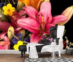 Muhteşem Çiçek Duvar Kağıdı  #3Boyutlu #Duvarkağıdı #3d #Dekor #Ev #Eşya #Moda