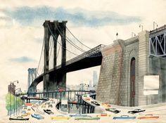 Miroslav Sasek - Brooklyn Bridge