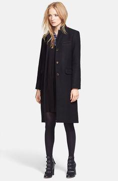 Cinzia Rocca DUE Patch Pocket Wool &amp Cashmere Blend Car Coat