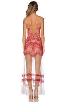 For Love & Lemons Antigua Maxi Dress in Red | REVOLVE