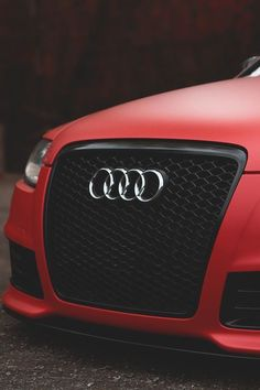 audi | red front