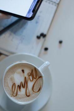 Enjoy everyday and every Coffee like's the last One Tea, Chocolate, Coffee, Tableware, Kaffee, Dinnerware, Tablewares, Chocolates, Cup Of Coffee
