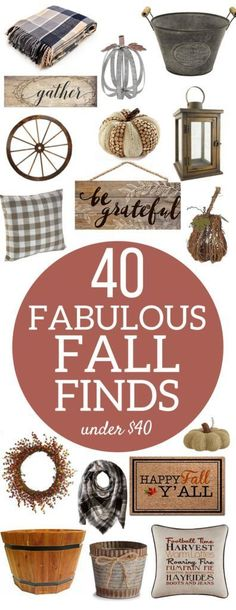Rustic Farmhouse Fall Home Decor | Budget-friendly…