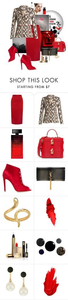 """""""Shes Back...."""" by ohnoflo ❤ liked on Polyvore featuring Roland Mouret, Altuzarra, Elizabeth Arden, Dolce&Gabbana, Gianvito Rossi, Yves Saint Laurent, Madina Visconti di Modrone, Maybelline, Kate Spade and YSL"""