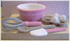Mesmerizing Crochet an Amigurumi Rabbit Ideas. Lovely Crochet an Amigurumi Rabbit Ideas. Crochet Amigurumi, Crochet Food, Crochet Kitchen, Cute Crochet, Crochet For Kids, Crochet Crafts, Crochet Dolls, Yarn Crafts, Crochet Baby