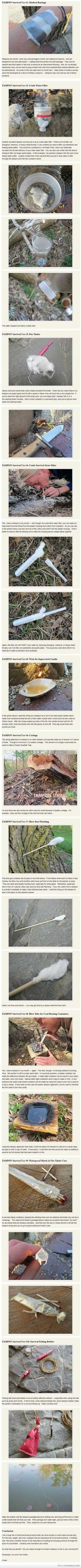 Survival Uses Of A Tampon