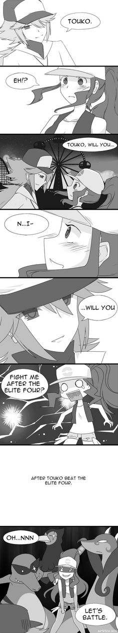 Funny short comic : N x Touko, I LOL'ed. what a troll.