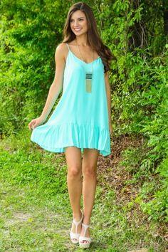 Color My Soul Dress-Mint