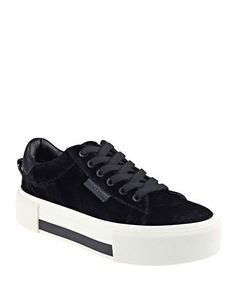 buy popular 1c5d2 ec27d Kendall + Kylie - Tyler Velvet Lace-Up Sneakers