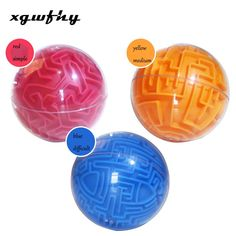 Stress Relief Toys - 1pcs Kinder Kreative Transparent Puzzle Spielzeug 3d Labyrinth Ball Kristall Kugel Würfel Labyrinth-Spiel Puzzle Spielzeug JM264 Doll Toys, Dolls, Emotional Strength, Stress Relief Toys, Imagination, Cube, Creativity, Puzzle, 3d