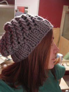 Chunky hat free knitting pattern