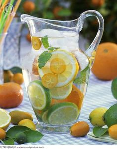 Citrus water...mix with a cucumber for weight loss!