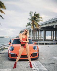 Porsche Models, Porsche Cars, Car And Girl Wallpaper, Porsche 911 Targa, Bikini Poses, S Car, Car Girls, Amazing Cars, Bikini Girls