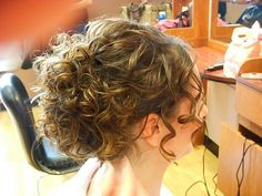 Curly hair up do