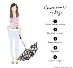 Commandments of Style {+ The French Five Piece Wardrobe}