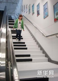 Musical staircase in China