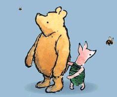I want to decorate all my kids' nurseries in classic Pooh. Gender neutral and totally adorable! :D