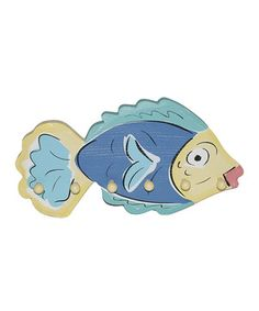 Look at this #zulilyfind! Young's Blue & Green Fish Wall Hook by Young's #zulilyfinds