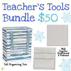 Thirty-One Gifts – Teacher's Tools Bundle! Thirty One Party, My Thirty One, Thirty One Gifts, Teacher Tools, Teacher Gifts, 2017 Pics, Thirty One Purses, Tote Organization, Organizing