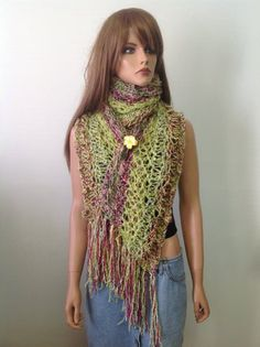 Hand Knit Shawl Wrap Stole Extra Long Spring Summer Designer Fadhion Lace Green Purple Hip Gift Women  Prayer  Heirloom on Etsy, $79.00