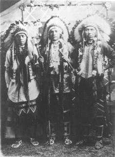 Charlie Wilson, Francis McFarland, and Johnnie Woods :: National Park Service (NPS) Nez Perce Historic Images Collection