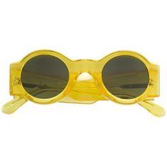 cadb5cd72b82 Linda Farrow Linda Farrow X Dries Van Noten Round Sunglasses ( 260) ❤ liked  on Polyvore featuring accessories