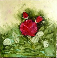 Red Rose (palette knife)