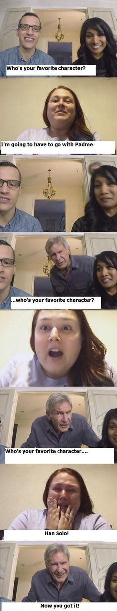 I knew the right answer the first time. Who's favorite character is Padme?!