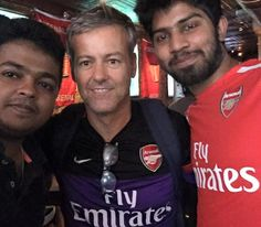 """gravesdiggers: """" Photo by Praveen Henry (on the left) (I think this is The Blind Pig, an Arsenal supporters bar in NYC - so nice to see Rupert is keeping up with his beloved Gooners even while he's..."""